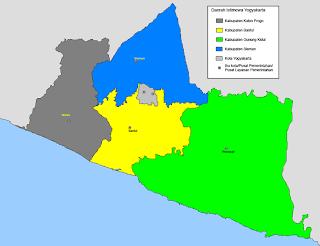 Peta Wilayah Daerah Istimewa Yogyakarta