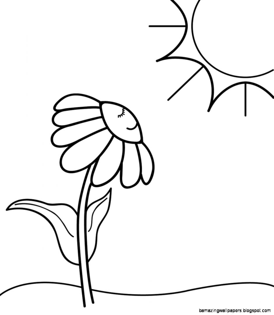 Spring Black And White Clipart   Clipart Kid