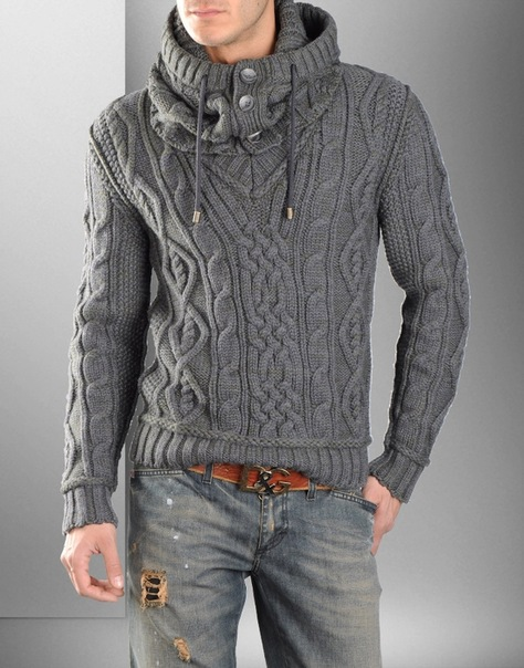 Вязаный свитер мужской своими руками схемы