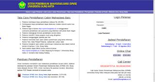 Pendaftaran Mahasiswa Baru Universitas Bung Hatta Padang