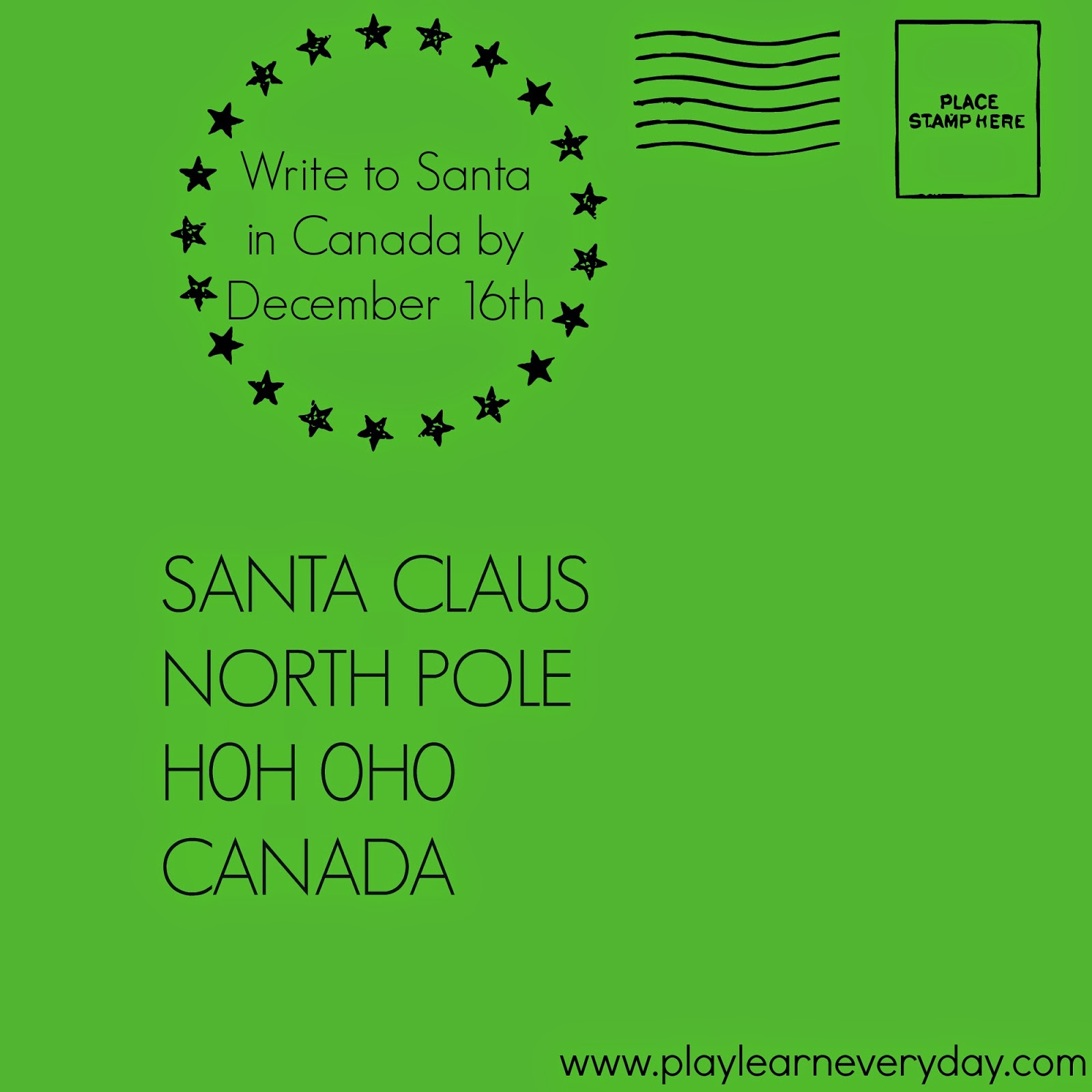 Children in Canada also receive Letters from Santa Claus