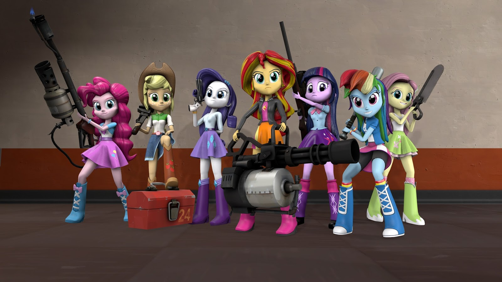 Anime Characters For Gmod : Equestria daily mlp stuff source girls pack