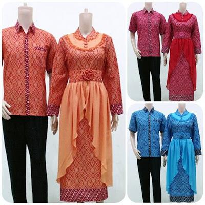 Contoh Baju Batik Gamis Couple Kombinasi Orang Gemuk