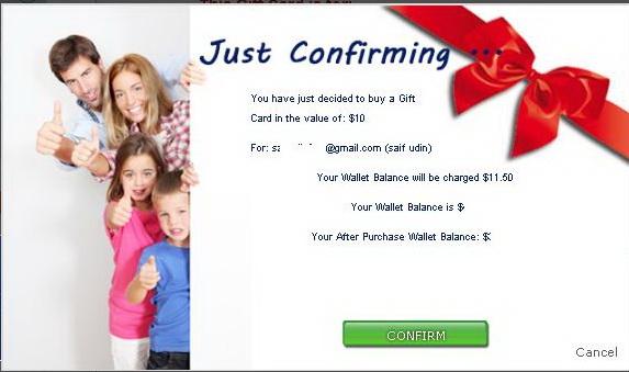 Confirmasi Memberikan Gift Card