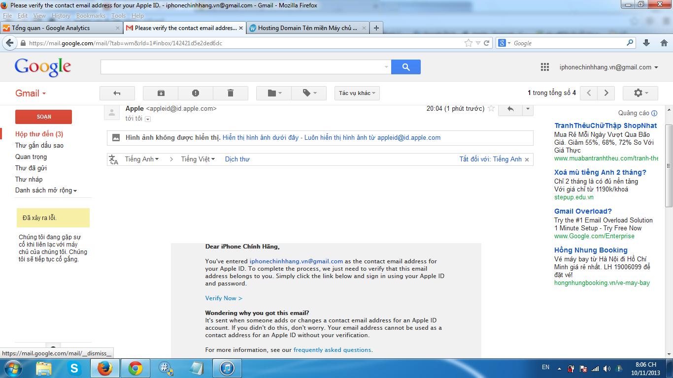 đăng nhập mail và ấn vào chữ xác nhận ngay