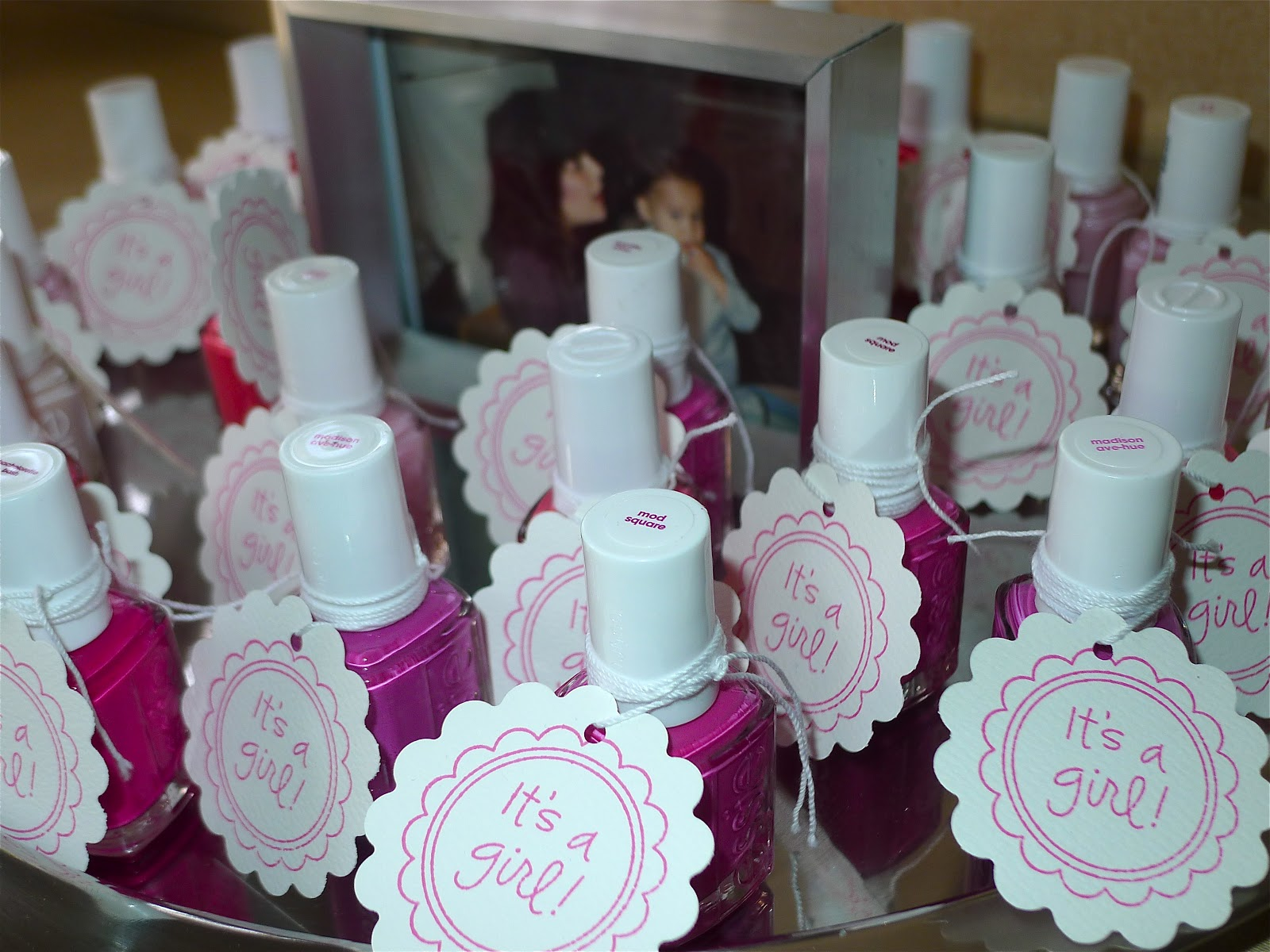 Fashionably Festive Pink Baby Shower DIY Towel Cake & Cupcakes