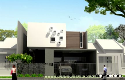 rumah minimalis modern 1a  Cara Mendesain Rumah