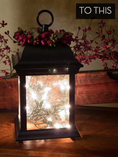 Add Holiday Lights And Red Berries For A Perfect Christmas Light Fixture.