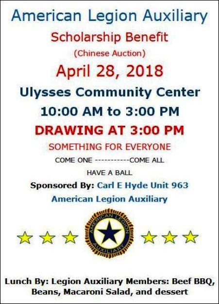 4-28 Scholarship Benefit, Ulysses