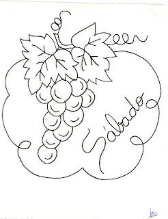 desenho de uvas para pintar