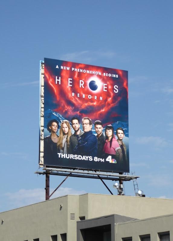 Heroes Reborn series premiere billboard