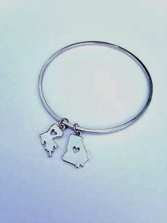 State Charm Bracelet