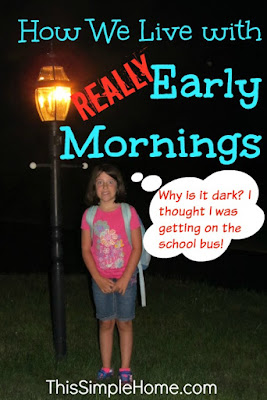 "Getting a child up at 5:30 isn't easy, but one ""trick"" makes all the difference."