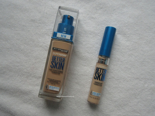 Maybelline Super Stay Better Skin Foundation and Concealer