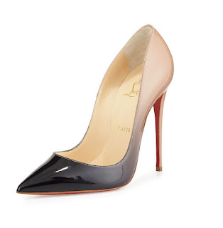 Christian Louboutin So Kate Pumps in nude and black degrade patent leather