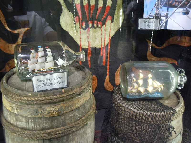 Blackbeard's ships in bottles props