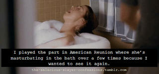 girl taking bath in american reunion