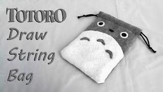 How to Make a Totoro Drawstring Bag tutorial