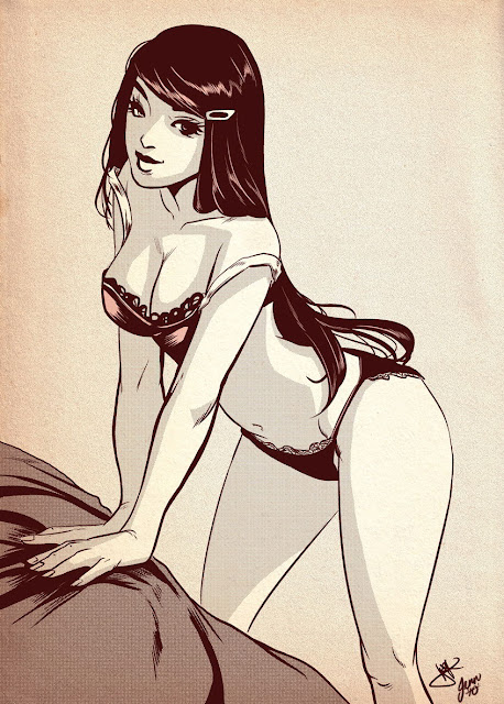 pinup cartoon girls