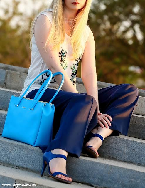 Scuba blue + classic blue in streetstyle 2015