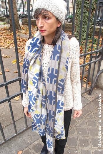 Foulard drap de laine Ma Poésie