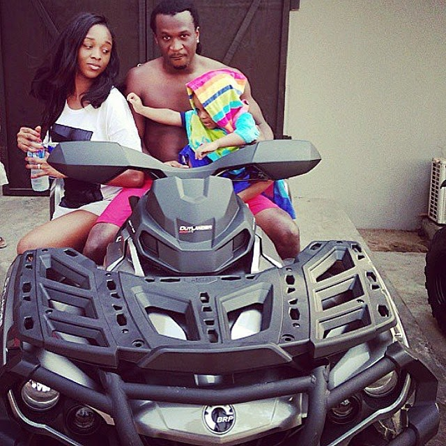 [Photos] Paul Okoye Shows Off Abs While On Vacation With Family