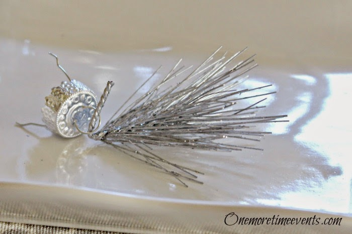 Faux Crystal Finial Glass Filled Christmas Ornaments at One More Time Events.com