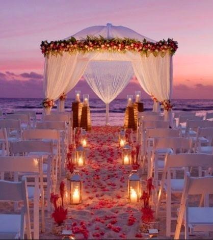 Decoraciones de bodas en la playa de noche - Decoracion boda playa ...