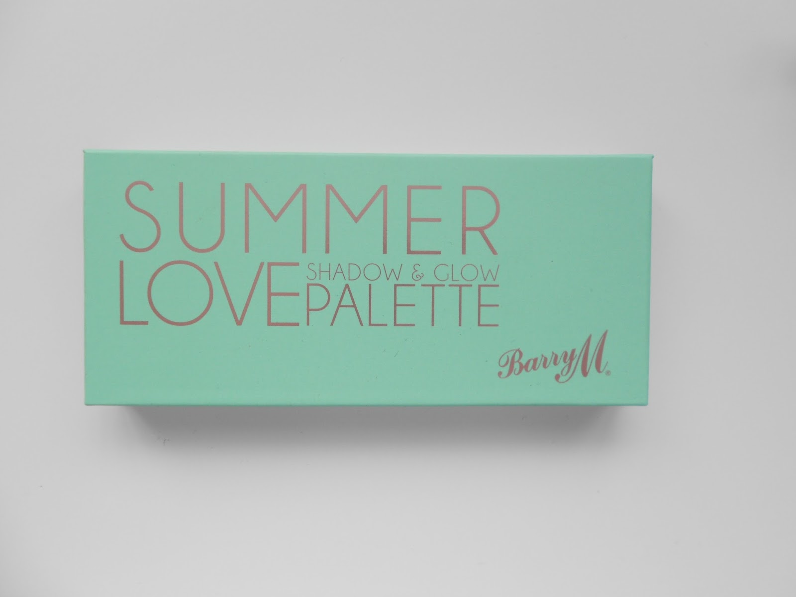 barry m summer love shadow and glow palette review