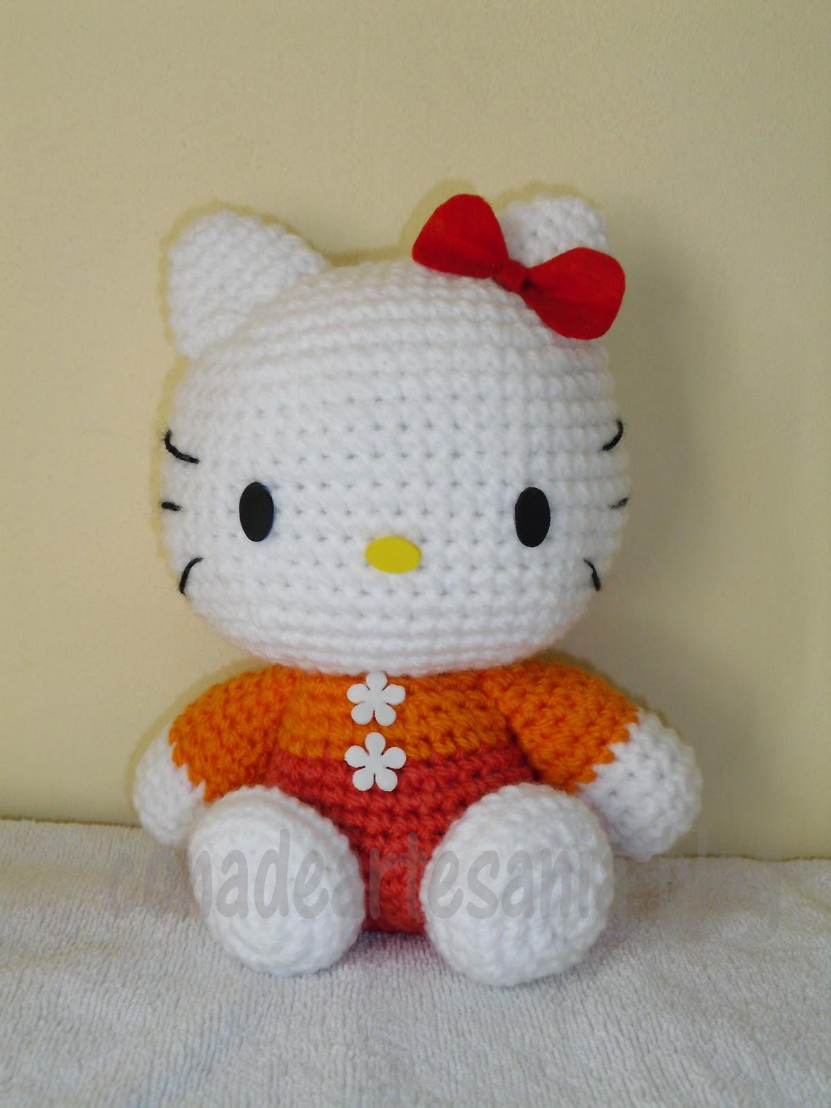 Tuto Gratuit Amigurumi Hello Kitty : con A de artesan?a: Amigurumis conejita kawaii y Hello Kitty