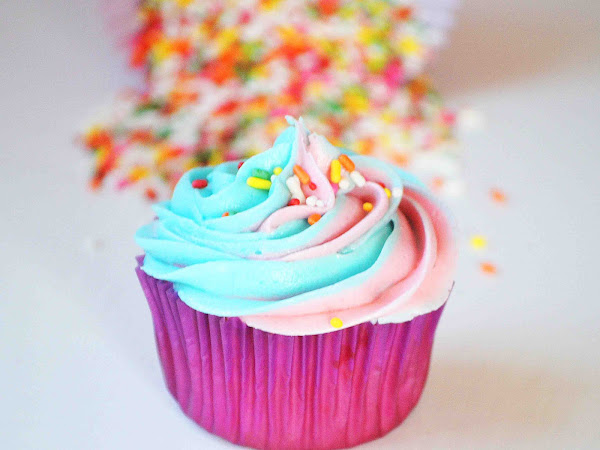 Funfetti Cupcakes with Vanilla Buttercream ~The Secret Recipe Club~