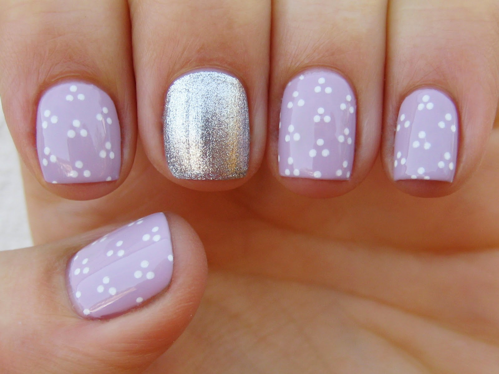 lilac spring nail art