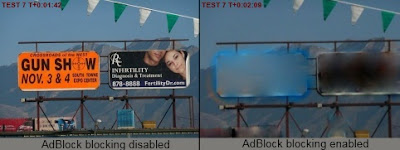 Example of Adblock Freedom