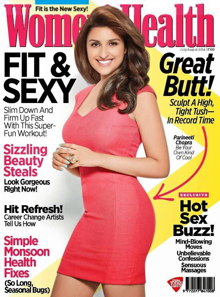 Parineeti Chopra Flaunting her butt on Women Health Magazine Cover