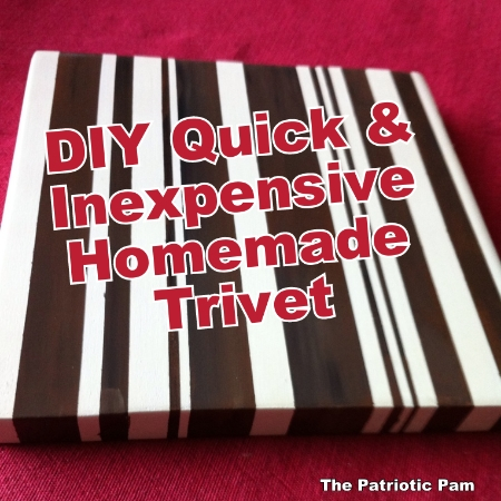 the patriotic pam diy wooden handmade trivet