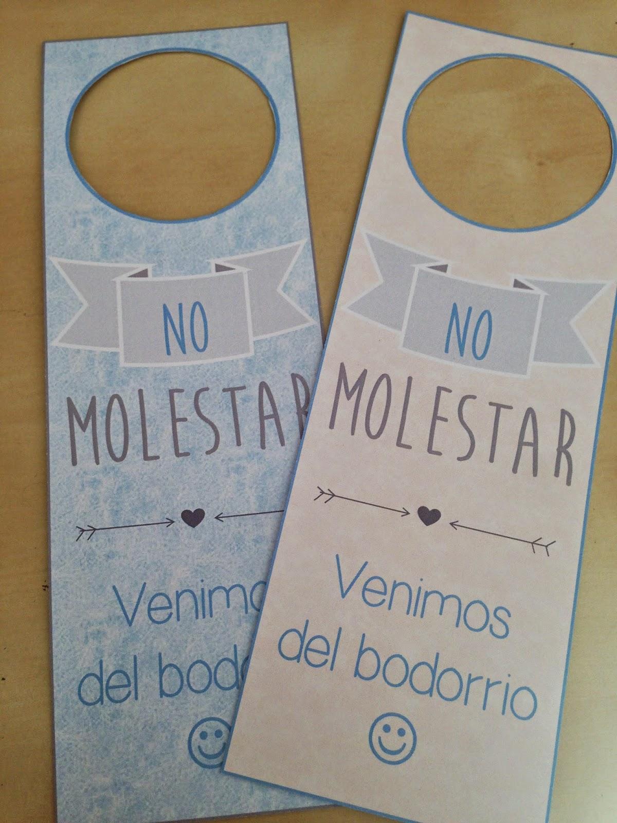 Blog de bodas yo dire que si kit de bienvenida para tus - Carteles para puertas habitaciones ...