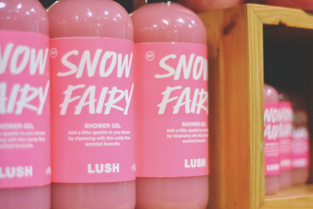 Big bottles of Snow Fairy