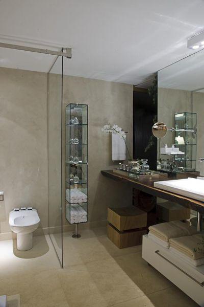 Arquitetura do Imóvel  Cimento Queimado em pisos, paredes e