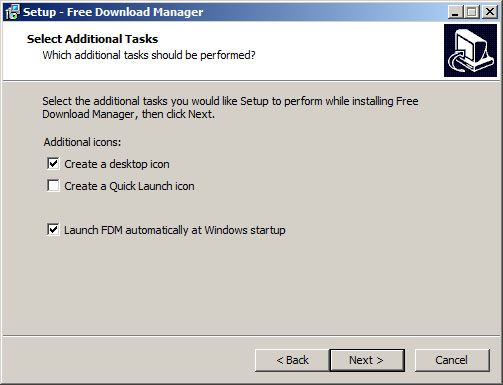 install the software making sure launch fdm automatically at windows startup is checked