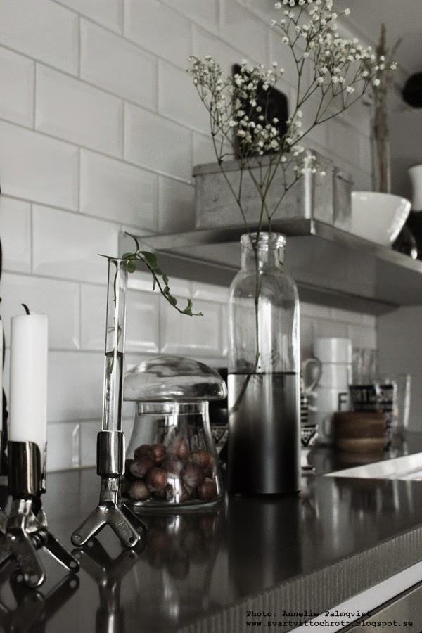 svamp, svampar, dekoration, inredningsdetaljer, inredning, glassvamp, svamp av glas, loppis, köket, kök, stenskiva, ljusstakar av klämmor,