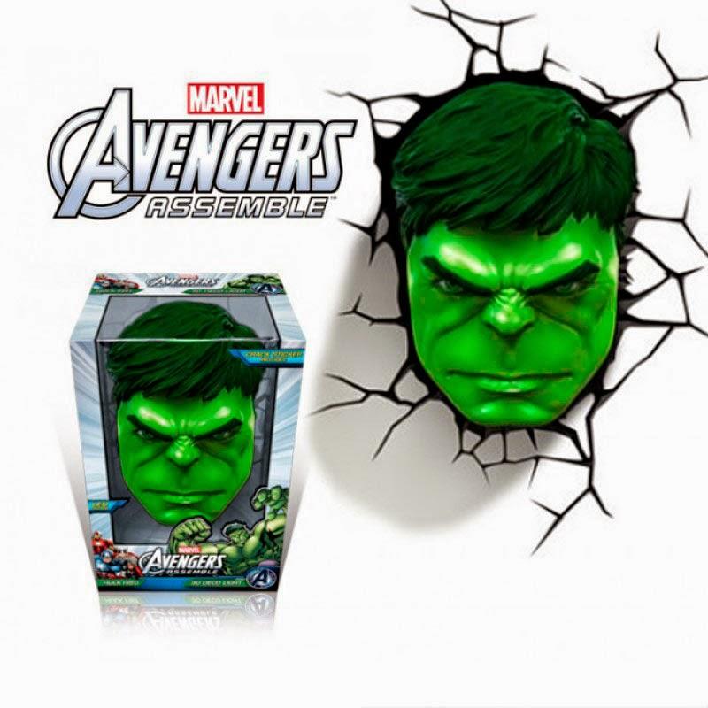 Lámpara 3D Increíble Hulk
