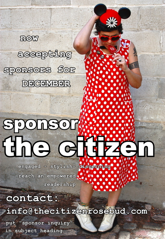SPONSOR the Citizen for December