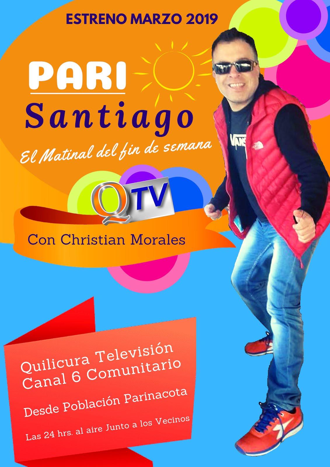 """Nuevo Programa. """"PARI Santiago"""" el Matinal del fin de semana"""" Conducido por Christian Morales"""