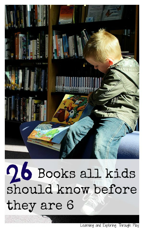 26 Books all kids should know before 6