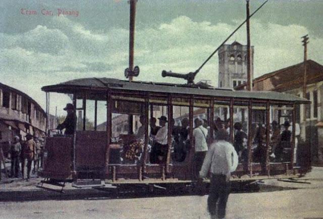 tram berkuasa wap di pulau pinang, pengangkutan awam pertama di pulau pinang, tram berkuasa wap di pulau pinang, penang first transportation, history of transportation in penang, sejarah pengangkutan awam pulau pinang, bas pertama di penang,