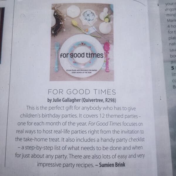 FOR GOOD TIMES - Taste Magazine
