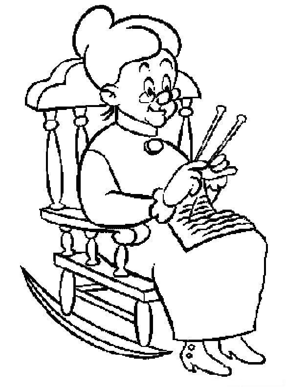 free coloring pages of piolin y abuelita. Black Bedroom Furniture Sets. Home Design Ideas