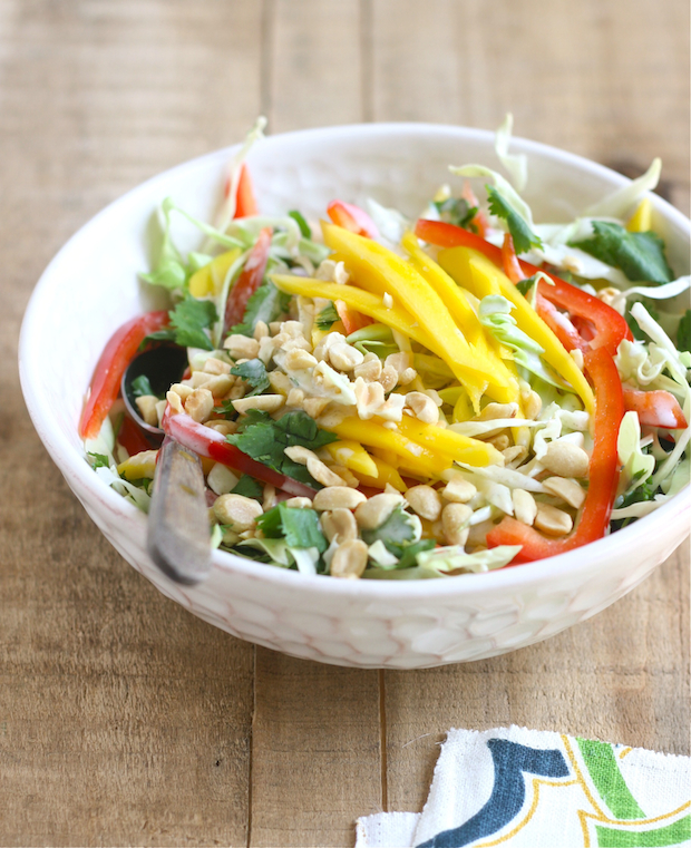 Mango Slaw with Coconut Lime Dressing by SeasonWithSpice.com