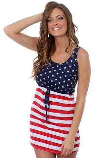 American Flag Dress Women