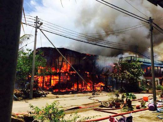 Lebih 50 Orang Hilang Tempat Tinggal Kebakaran Di Tawau